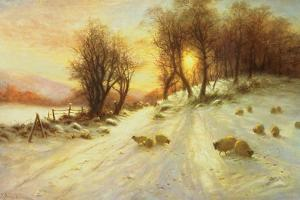 Sheep in Winter Snow by Joseph Farquharson