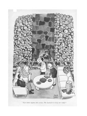"""Let OPEC tighten the screws. The Larned A. Corys are ready."" - New Yorker Cartoon by Joseph Farris"