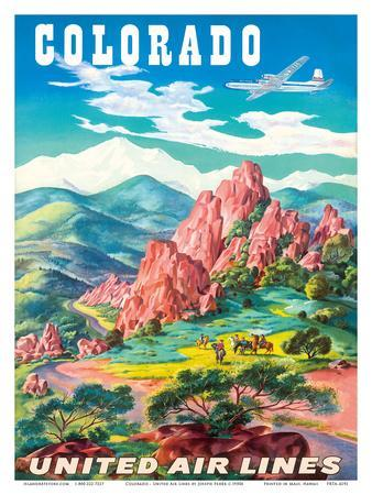 Colorado - United Air Lines - Garden of the Gods, Colorado Springs