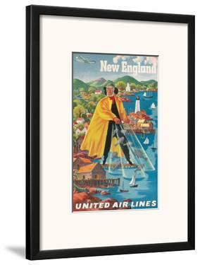 United Airlines New England, c.1940 by Joseph Feher