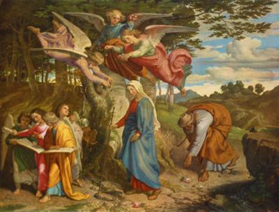 Virgin Crossing the Mountain, c.1841