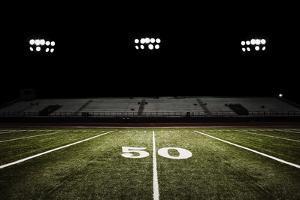 Football Field at Night by Joseph Gareri
