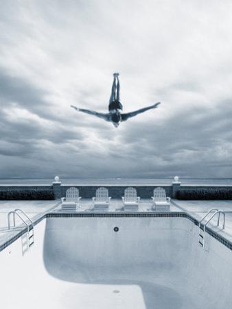 Man Diving Into an Empty Pool by Joseph Hancock