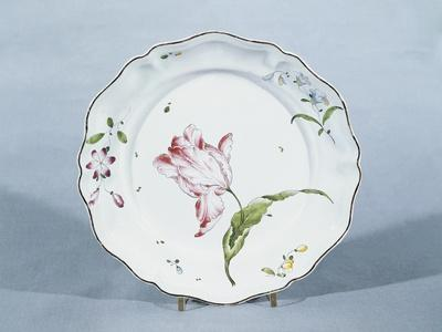 Plate with Floral Decorations, Ca 1760