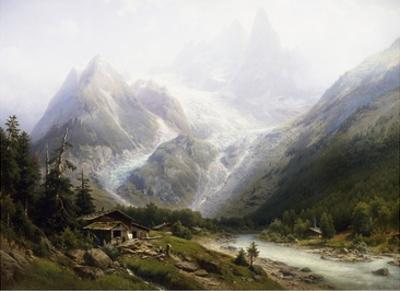 A View of Chamonix and Mont Blanc