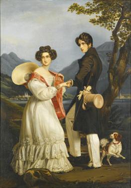 Duke Maximilian Joseph in Bavaria and Ludovika of Bavaria at Schloss Tegernsee by Joseph Karl Stieler
