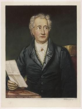 Johann Wolfgang Von Goethe German Writer and Scientist by Joseph Karl Stieler