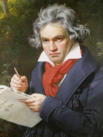 Ludwig Van Beethoven (1770-1827) Composing His 'Missa Solemnis' by Joseph Karl Stieler