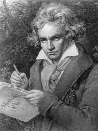 Ludwig Van Beethoven Composing His 'Missa Solemnis', 1819 by Joseph Karl Stieler