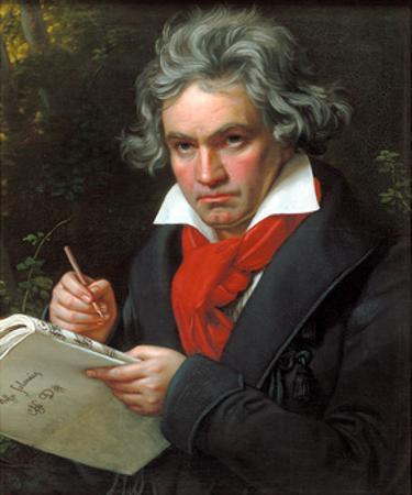 Portrait Ludwig Van Beethoven When Composing the Missa Solemnis, 1820 by Joseph Karl Stieler