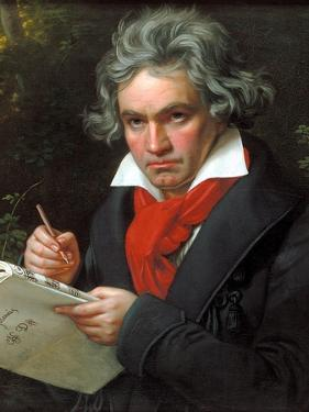 Portrait Ludwig Van Beethoven When Composing the Missa Solemnis, 1820 by Joseph Karl Stieler