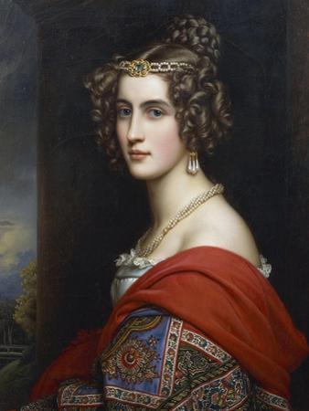 Portrait of Amalia Von Schintling, 1831 by Joseph Karl Stieler