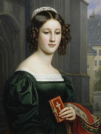 Portrait of Anna Hillmaier, 1829 by Joseph Karl Stieler
