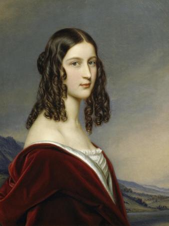 Portrait of Friederike Von Freiin Gumppenberg, 1843 by Joseph Karl Stieler