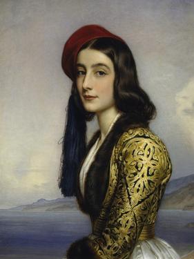 Portrait of Khatarina Botzaris, 1841 by Joseph Karl Stieler