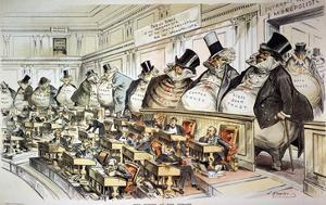 Cartoon: Anti-Trust, 1889 by Joseph Keppler