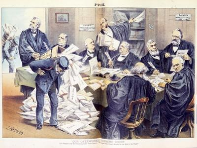 Our Overworked Supreme Court: it Is Unequal to the Ever-Increasing Labor Thrust Upon it - Will Cong by Joseph Keppler