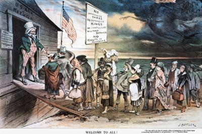 Pro-Immigration Cartoon by Joseph Keppler