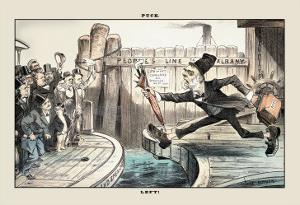 Puck Magazine: Left! by Joseph Keppler