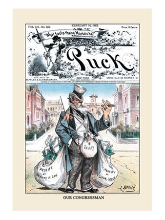 Puck Magazine: Our Congressman by Joseph Keppler