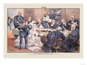 Puck Magazine: Our Overworked Supreme Court by Joseph Keppler