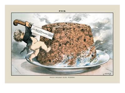 Puck Magazine: Puck's Holiday Plum-Pudding by Joseph Keppler
