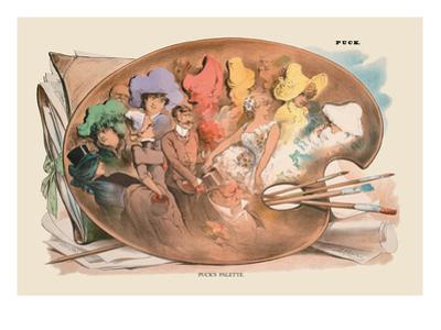 Puck Magazine: Puck's Palette by Joseph Keppler