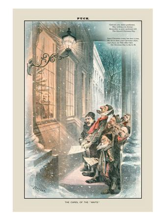 Puck Magazine: The Carol of the Waits by Joseph Keppler