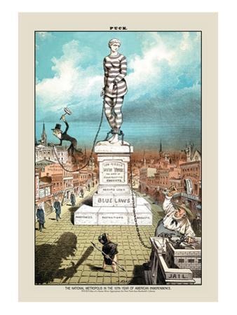 Puck Magazine: The National Metropolis by Joseph Keppler