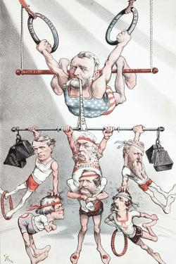 Puck Wants 'A Strong Man at the Head of the Government' - But Not This Kind, 1880 by Joseph Keppler