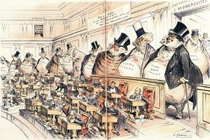 The Bosses of the Senate from the American Magazine 'Puck', January 23rd 1889 by Joseph Keppler