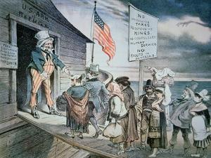 Welcome All Cartoon, 1880 by Joseph Keppler