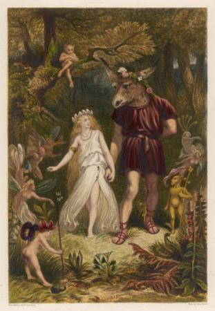 A Midsummer Night's Dream, Act IV Scene I: Bottom and Titania by Joseph Kronheim