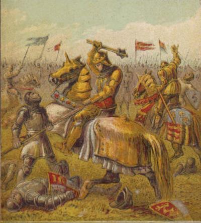 Battle Between the Houses of York and Lancaster During the War of the Roses by Joseph Kronheim