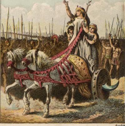 Boadicea and Her Army by Joseph Kronheim