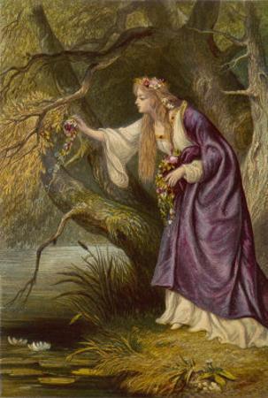 Hamlet, Act IV Scene I: Ophelia Gathers Flowers by the Stream by Joseph Kronheim