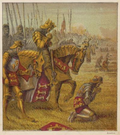 Henry V and His Troops Pray for Victory Over the French Before the Battle of Agincourt by Joseph Kronheim