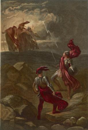 Macbeth, The Meeting with the Witches on the Heath by Joseph Kronheim