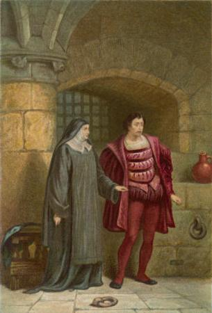 Measure for Measure, Act III Scene I: The Despondent Claudio with His Virtous Sister Isabella by Joseph Kronheim