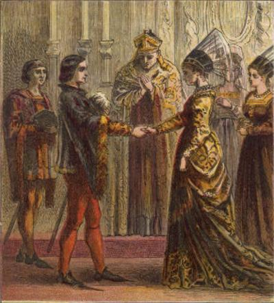 The Marriage of Henry V of England and Catherine de Valois the Daughter of Charles VI of France by Joseph Kronheim