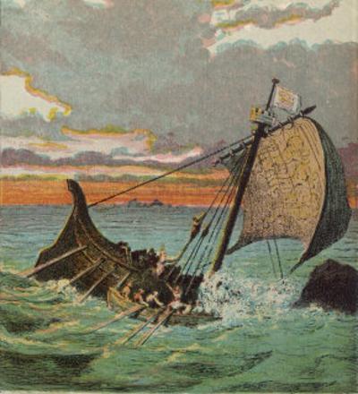 Wreck of the White Ship by Joseph Kronheim