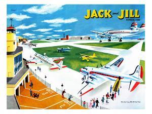 Airport - Jack and Jill, October 1950 by Joseph Krush