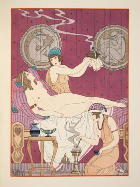 Aromatic Fumigations, Illustration from 'The Works of Hippocrates', 1934 (Colour Litho) by Joseph Kuhn-Regnier