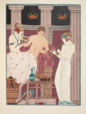 Music Therapy, Illustration from 'The Works of Hippocrates', 1934 (Colour Litho) by Joseph Kuhn-Regnier
