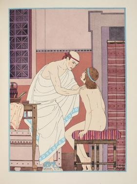 Oral Examination, Illustration from 'The Works of Hippocrates', 1934 (Colour Litho) by Joseph Kuhn-Regnier