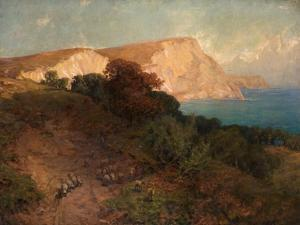 From English Seas - White Nose Cliff, the Highest in Dorset, C.1910 by Joseph Langsdale Pickering