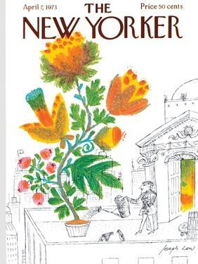 The New Yorker Cover - April 7, 1973 by Joseph Low
