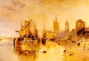 Joseph Mallord Turner Arrival of Boat Cologne Art Print Poster