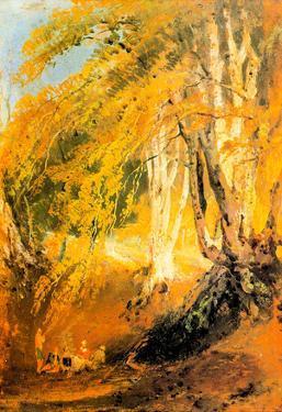 Joseph Mallord Turner Beech Woods with Gypsies 2 Art Print Poster
