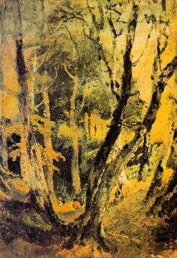 Joseph Mallord Turner Birch Woods with Gypsies Art Print Poster